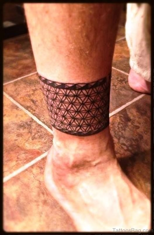 Cool Band Tattoo On Leg