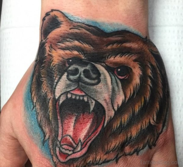 Cool Bear Tattoo Design
