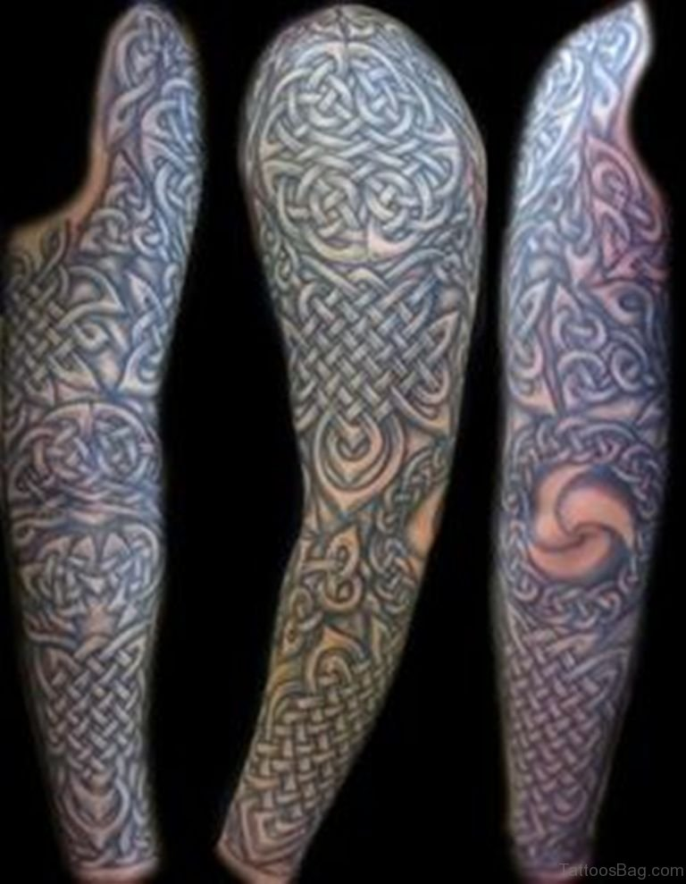 50 great celtic tattoos for full sleeve for How to make a tattoo sleeve