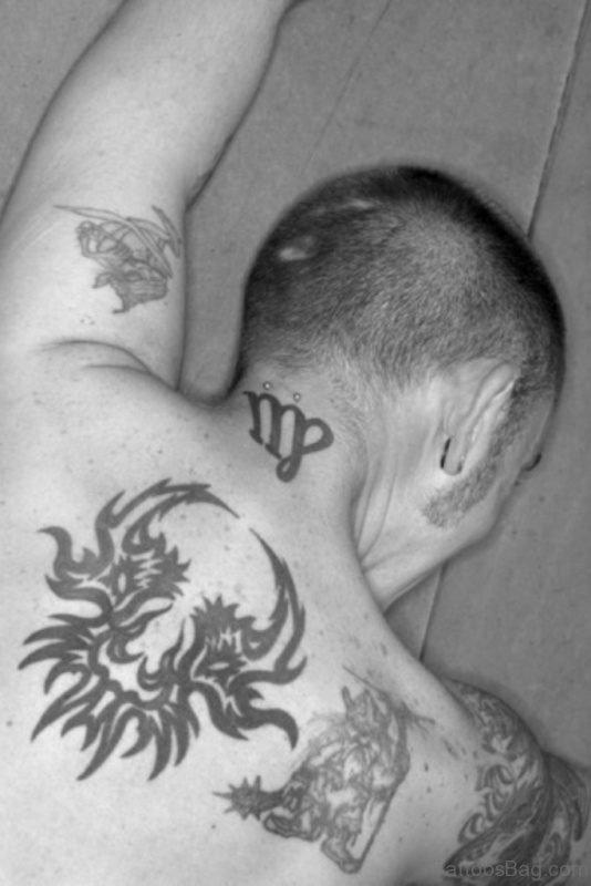 Cool Kanji Neck Tattoo