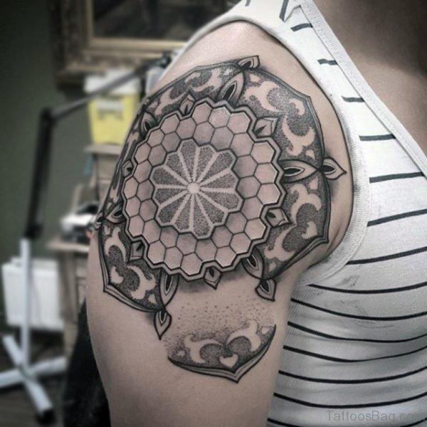 Cool Mandala Tattoo On Shoulder