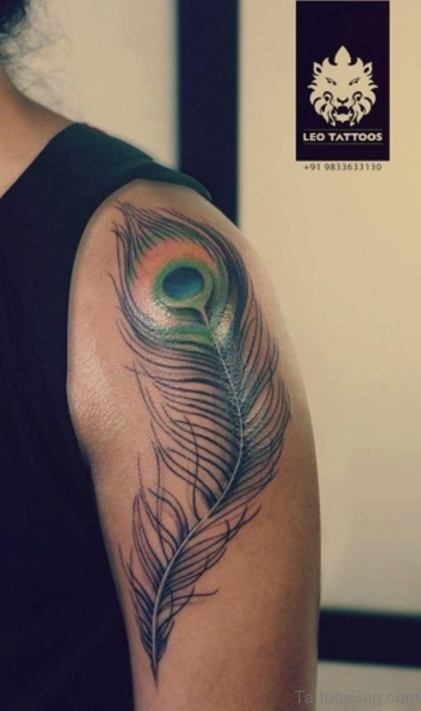 Cool Peacock Feather Tattoo