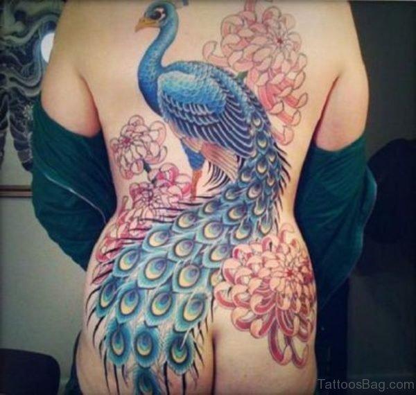 Cool Peacock Tattoo Design