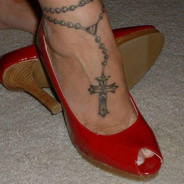 Cool Rosary Tattoo Design