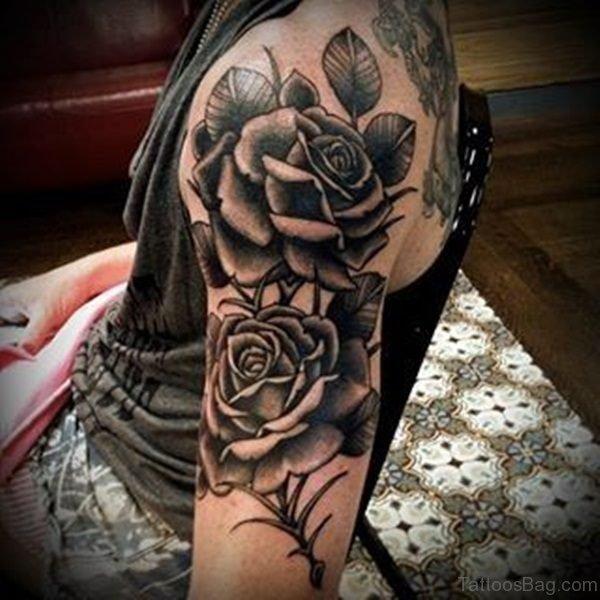 Cool Rose Arm Tattoo