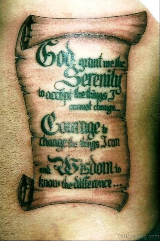 Cool Scroll Tattoo On Arm