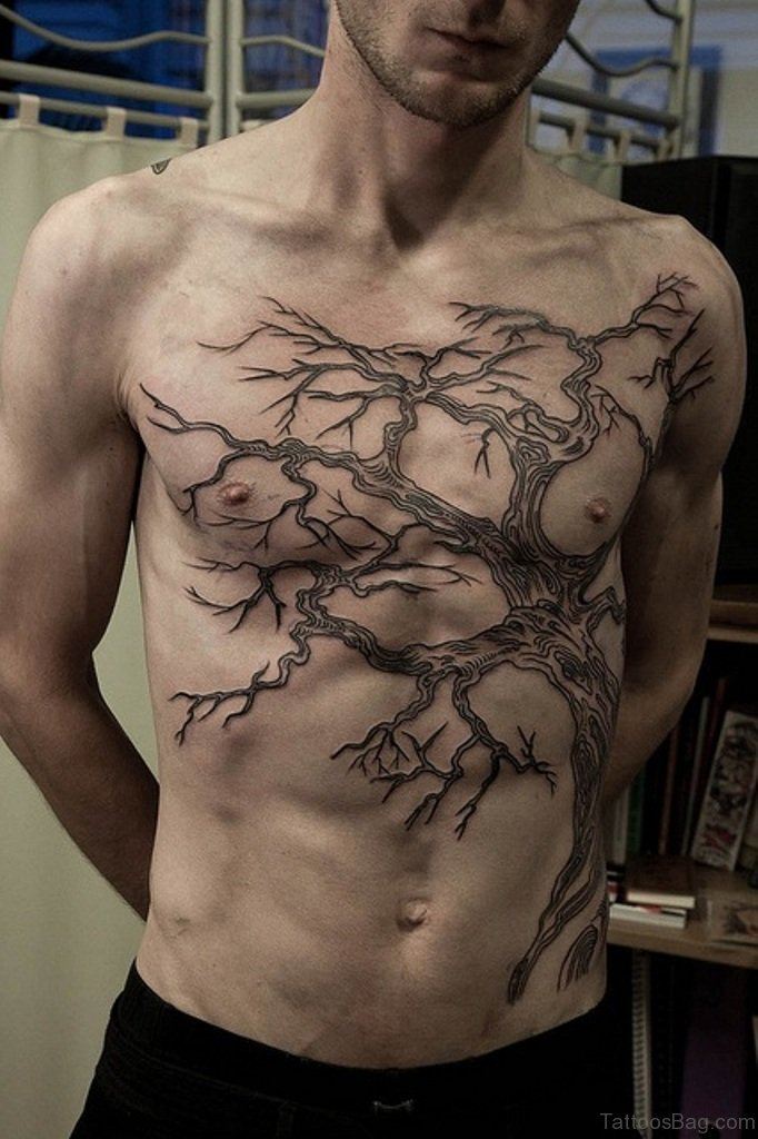 64 mind blowing tree tattoos for chest for Tree tattoo designs