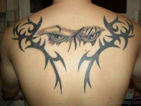Cool Upper Back Tattoo Design