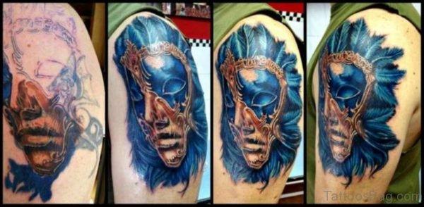 Cool Venetian Mask Tattoo