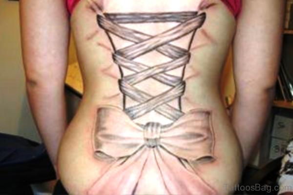 Corset Tattoo On Back Photo