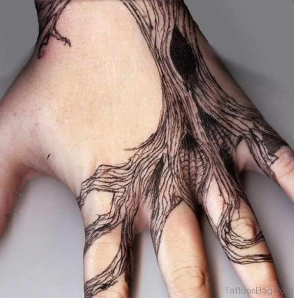 Creative Tattoo On Hand