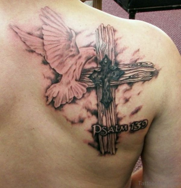 Cross And Dove Tattoo