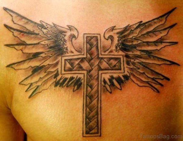 Cross Tattoo Design On Chest