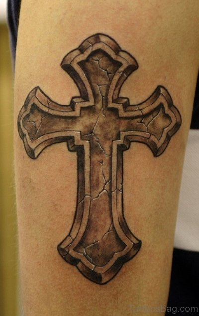 Cross Tattoo For Arm