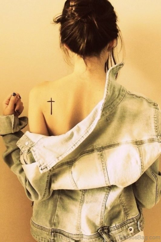 Cross Tattoo On Back