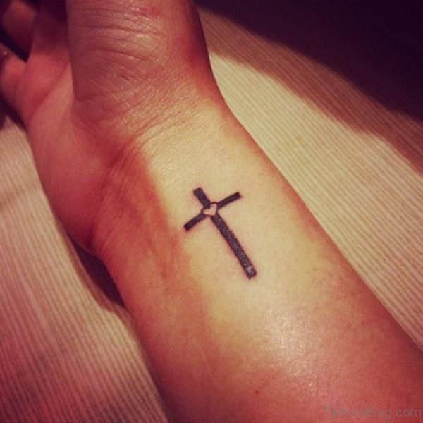 Cross Tattoo On Wrist Image