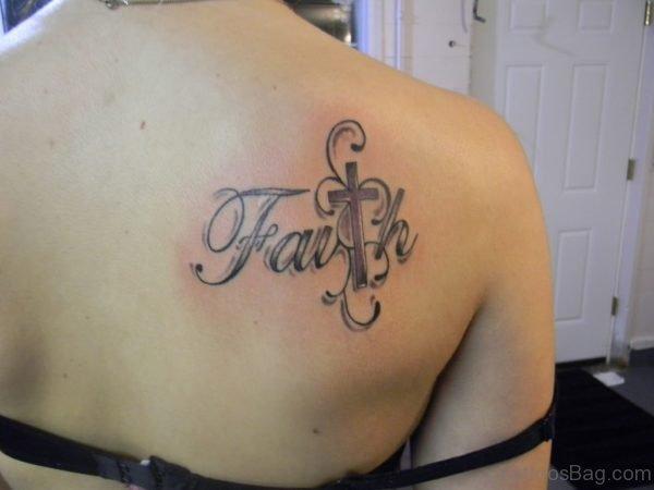 Cross Tatttoo On Back