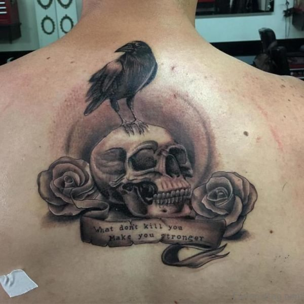 Crow And Skull Tattoo