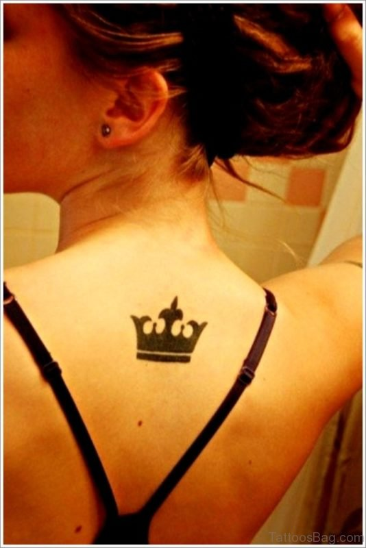 Crown Back Tattoo to Women 1