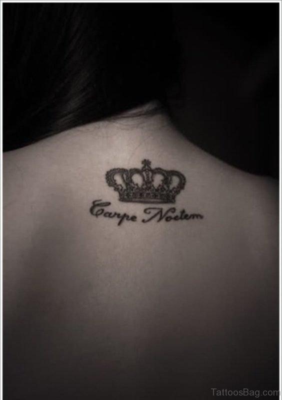 Crown Tattoo Design On Nape