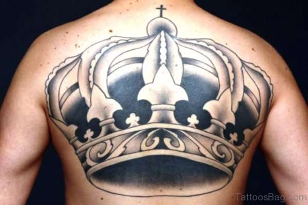 Crown Tattoo On Back