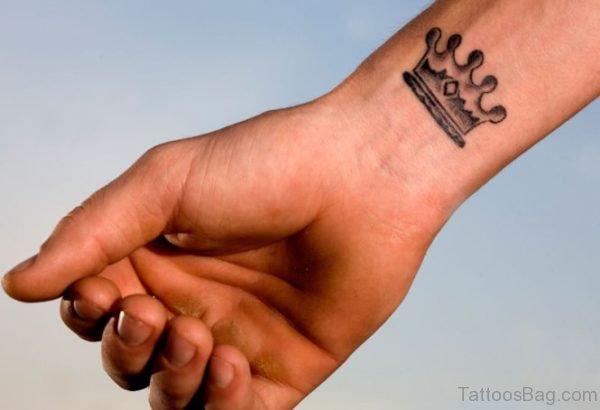 Crown Tattoo On Wrist