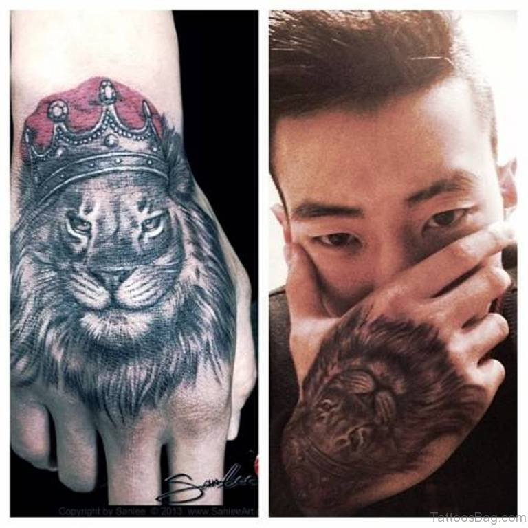 Lion face tattoos