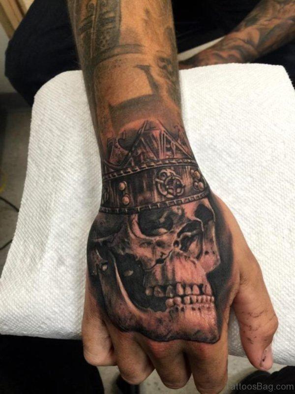 Crowned Skull Tattoo