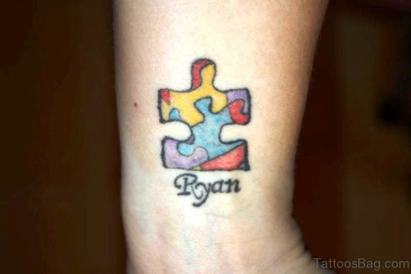 Cute Autism Tattoo On Wrist