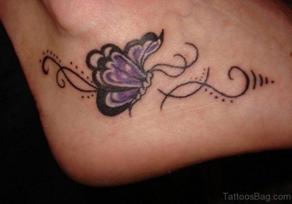 Cute Butterfly Tattoo Design