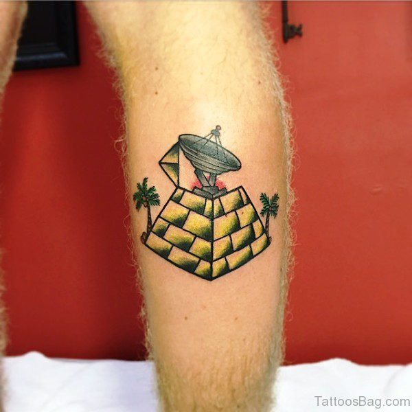 Cute Calf Tattoo On Calf