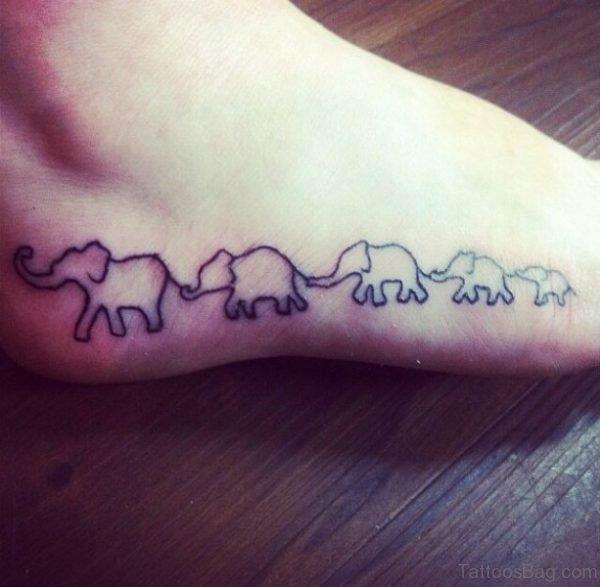 Cute Elephant Tattoo On Foot