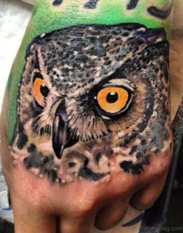 Cute Eyes Owl Tattoo