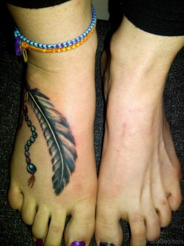 Cute Feather Tattoo Design