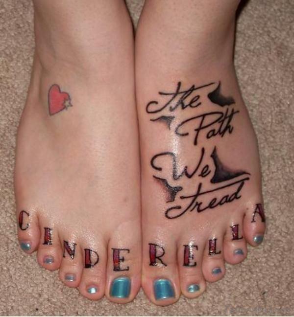 Cute Heart Design Tattoo
