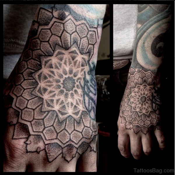 Cute Mandala Tattoo On Hand