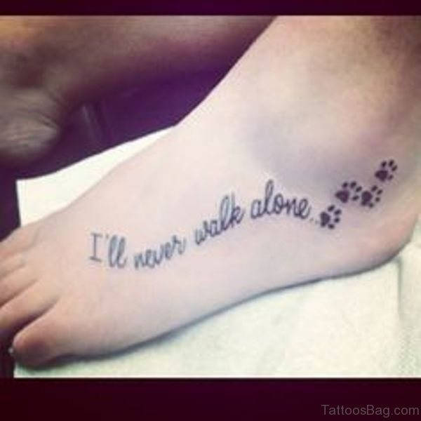Cute Paw Print Tattoo