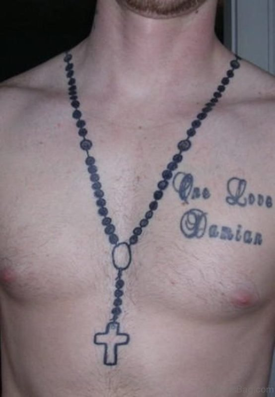 Cute Rosary Tattoo