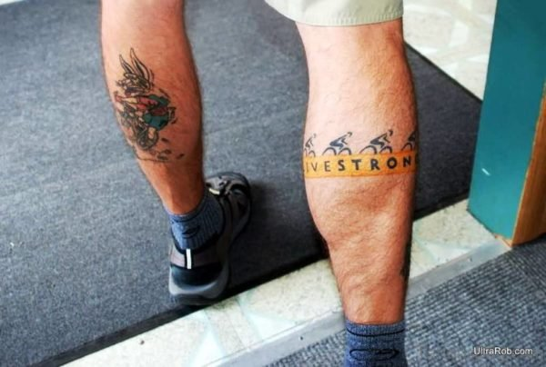 Cycle Band Tattoo On Leg