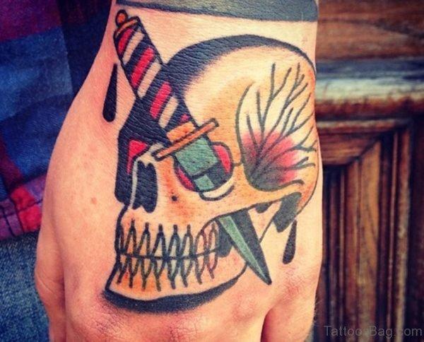Dagger And Skull Tattoo