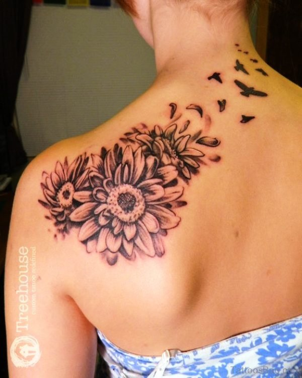 98 Cute Tattoos For Girls On Back Shoulder