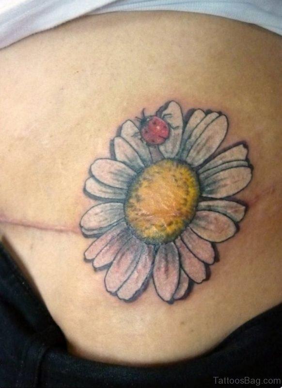 Daisy Tattoo On Waist