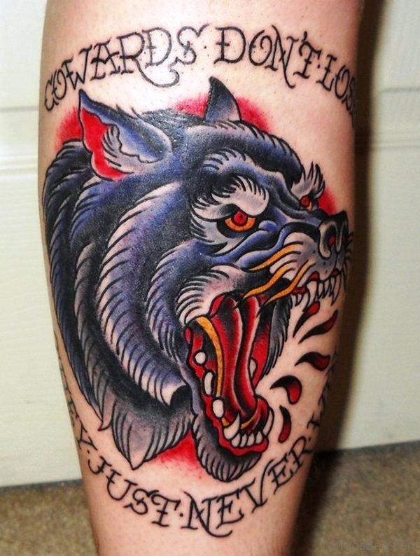 Dangerous Alpha Wolf Tattoo On Shoulder