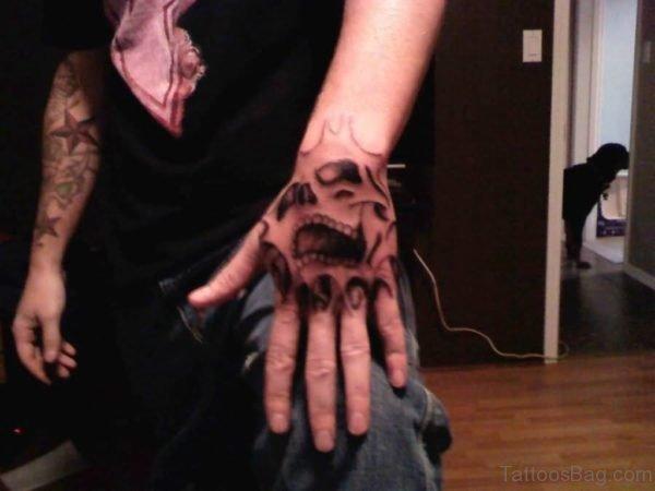 Dangerous Angry Skull Tattoo