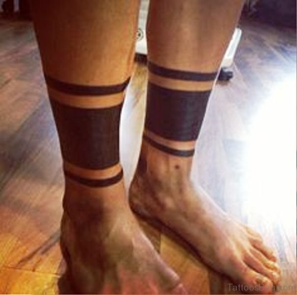 651fa607a Dark Black Band Tattoo On Both Legs