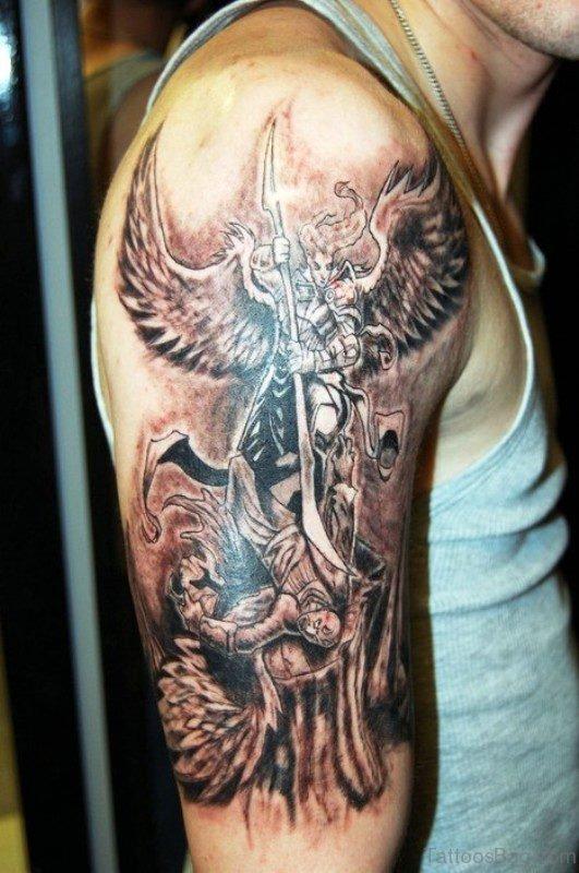 Dazzling Archangel Tattoo Design