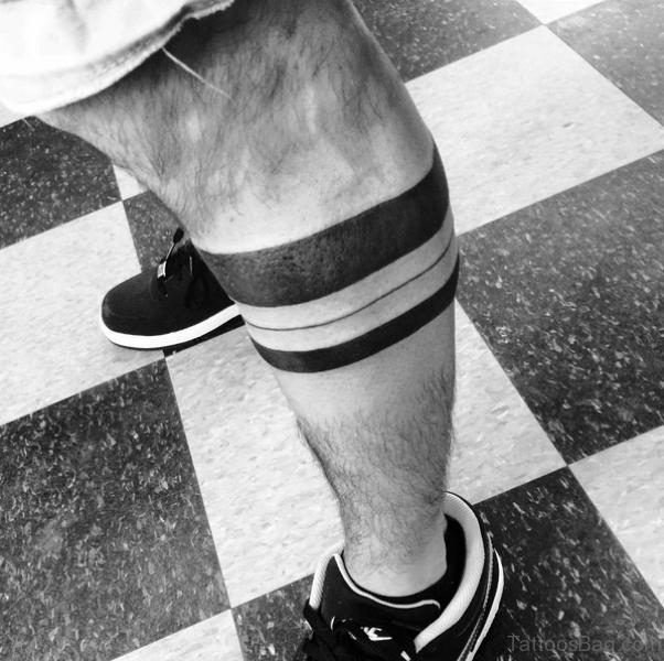 53 Cool Band Tattoos On Leg