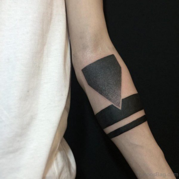 Delightful Band Tattoo On Arm