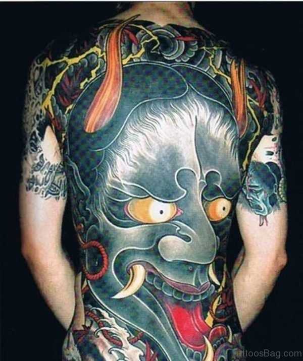 Demon Tattoo Design On Back
