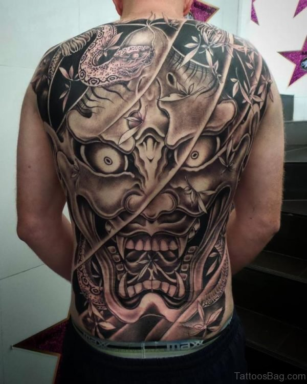 Demon Tattoo On Back